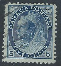 Canada #79(3) 1898 5 cent carmine QUEEN VICTORIA DUPLEX CANCEL CV$4.00