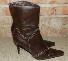 PREDICTIONS ANCLE  BOOTS BROWN WOMENS SIZE  9  NICE L@@K