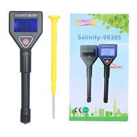 Seawater Salinity Refractometer Mini Salinity Meter ATC Saltwater Tester Y8K2