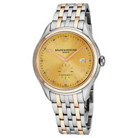 Baume Mercier Men's Clifton Stainless Steel/18K Rose Gold Automatic Watch A10352
