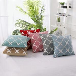 "18"" X 18"" (45cm) Modern Soft Linen Cushion Covers Scatter Pillow Case Sofa"