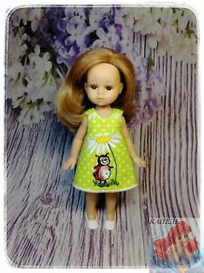 """The dress """"Ladybug with chamomile"""" for girls is intended for 8 inch"""