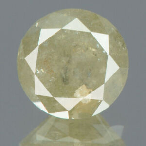 0.89 cts CERTIFIED Round Brilliant Cut I3 Grey Color Loose Natural Diamond 15891