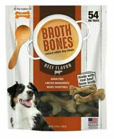 NYLABONE BROTH BONES DOG TREATS 54 CT ( 2.38 Lbs) NATURAL CHEWS Fast Shipping
