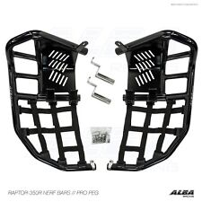 Yamaha Raptor 350   Nerf Bars with heel guards    Alba Racing  Blk blk 209 T8 BB