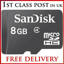 8GB Micro SD SDHC Memory Card & FREE SD Adapter FOR iphone & MP3 Player 8 GB
