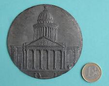 grande médaille uniface en étain PARIS, le PANTHEON (8,5 cm - 101 g)