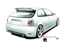 Paraurti posteriore HONDA CIVIC COUPE' 96->98 Tuning