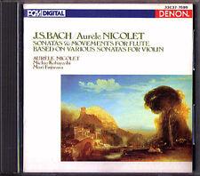 Aurele Nicolet Bach fulte (Violin) Sonata DENON Giappone CD mari Fujiwara Kobayashi