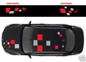 Renault stickers - 017 squares full graphics decal stickers Megane Clio Twingo