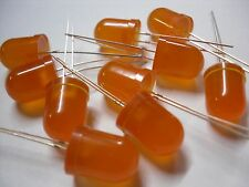 10 pieces 10mm Bright Diffused ORANGE / AMBER LED
