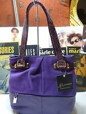 BRAND NEW B. MAKOWSKY HAND BAG COLLINS  TOTE SUPPLE/ SUEDE LEATHER CONCORD $288
