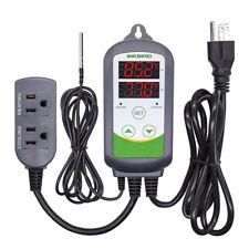 Inkbird ITC308 Hydroponics Digital Temperature Controller Temp Sensor Heat 110V