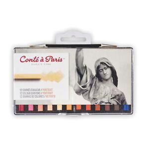 Conte a Paris Artists Pastel Crayons Set of 12 Portrait Colours
