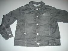 Veste en jean grise, marque MARESE/OOXOO, taille 6-7 ans
