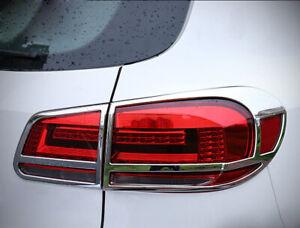 Chrome Rear Tail Light Lamp Cover Trim For Volkswagen Tiguan 2013 2014 2015 SUV