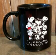 "Peanuts Snoopy ""I JUST FREAKING LOVE SNOOPY"" Mug Cup"