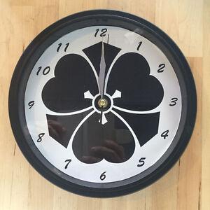 Kamon Japanese Family Crest Kikyou 9 - 9.5 inch Wall Clock