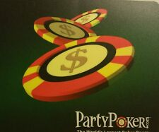 """Poker Chips / Chip Mouse Pad (8""""x7.5"""") inches by 1/8 thick - Poker $$$ theme"""