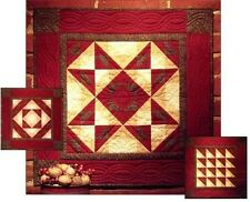 AUTUMN STAR COMPLETE QUILTING KIT, Fun Applique Wall Quilt NEW