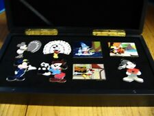 Disney Store D23 Exclusive Mickey Through the Years PIN Set NEW IN WOODEN BOX