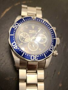 Invicta 2925 Blue Diver Dive Watch Chronograph New without Box Tags