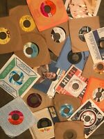"Lot of 50-70s Rock Pop Soul Jazz (16) Records 7"" Single 45 rpm Jukebox w/ Sleeve"