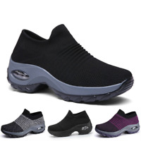 Women's Casual Air Cushion Slip On Sneakers Athletic Sports Running Shoes Tennis