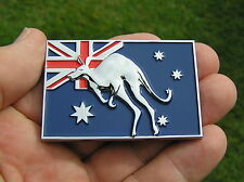 AUSSIE KANGAROO FLAG Metal CAR BADGE *New & UNIQUE!*  ~ AUSTRALIA  Australian