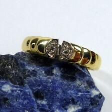 ORO ANELLO DONNA 56 (17,8 mm Ø ) 585/14 K giallo brillante ca.0, 06ct Diamante