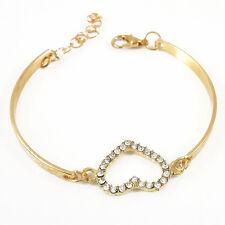 Mode femmes mignon Love or coeur bracelet manchette Bracelet Bijoux fantaisie