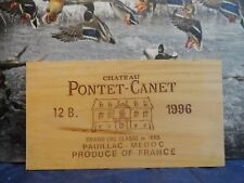 1996 PONTET CANET PAUILLAC FRANCE WOOD WINE PANEL END