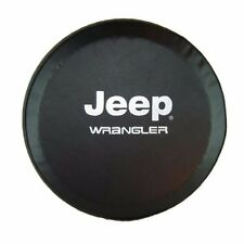 "Black PU Leather Spare Wheel Tire Cover for Jeep Rubicon Wrangler 32"" 33"""