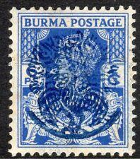 Burma 1942 Japanese Occupation bright-blue 6pies mint SG J27
