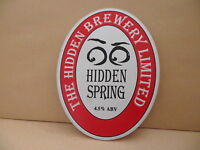 The Hidden Brewery Hidden Spring Ale Beer Pump Clip face Pub Bar Collectible 15