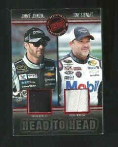 Jimmie Johnson & Tony Stewart 2014 Press Pass Redline Dual Race Used Hat #44/75