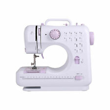 12 Stitch Electric Portable Mini Sewing Machine Overlock 2 Speed Foot Pedal