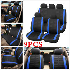 9Pcs Comfortable Universal Car Full Set Seat Cover For Auto Interior Accessories
