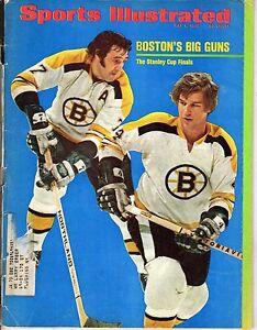1972 Sports Illustrated, Hockey, Bobby Orr & Phil Esposito, Boston Bruins ~ Poor