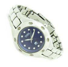 Fossil BLUE Damen Armband Uhr Edelstahl Blau AM-3320 10ATM Batterie neu N150