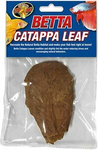 Zoo Med Betta Fish Catappa leaf Black water environment for bettas 1 count