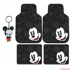 5PCS Mickey Mouse Expression Car Truck Suv Front Rear Rubber Floor Mats Keychain
