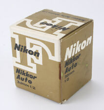 NIKON EMPTY BOX ONLY FOR 35MM 35/2 NIKKOR/187504