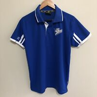 Canterbury Bankstown Bulldogs 2004 NRL Rugby Polo Shirt Blue Mens Medium