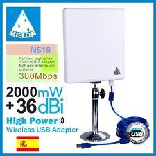 WIFISKY N519,300 Mbps,36dbi antena Panel WIFI,2000mw,2W,MELON N519,RALINK 3072