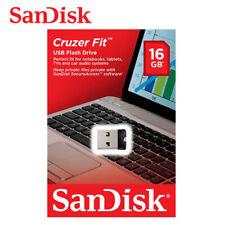 SanDisk Cruzer Fit CZ33 16GB Mini Nano USB Pen Drive Memory Thumb Stick