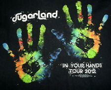 2012 Sugarland-In you Hands-Tour Country Band Club Bar Concert Black T Shirt-S