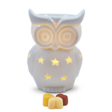 Owlchemy Snowy Owl Electric wax burner with light & fragrant scrumptious tarts