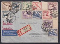 GERMANY 1937, Olympic Games Cover from Wuppertal Barmen to Pernambuco