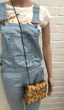 Next Box Clutch HandBag Bag Snake Chain Vintage Style Yellow Ditsy Floral